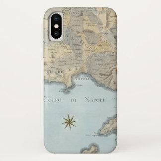 Karte des Golfs von Neapel und von Umgebung iPhone X Hülle