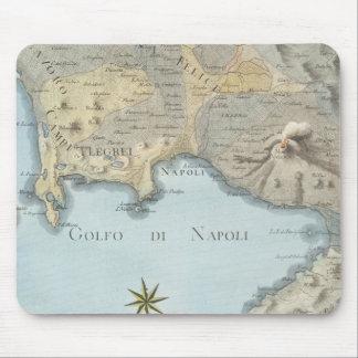 Karte des Golfs von Neapel und von Umgebung Mousepad