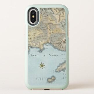 Karte des Golfs von Neapel und von Umgebung OtterBox Symmetry iPhone X Hülle