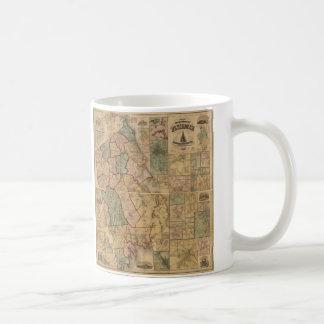 Karte des Landkreises von Plymouth Massachusetts Kaffeetasse