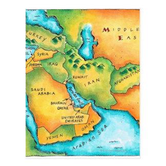 Karte des Mittlere Ostens Postkarten