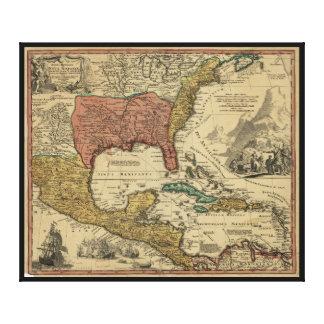 Karte des Nordens u. des Mittelamerikas durch J Leinwanddrucke