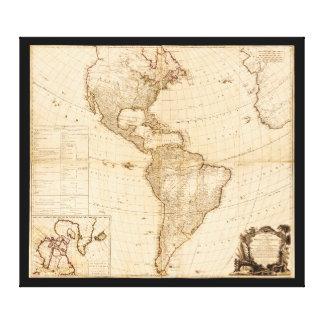 Karte des Nordens u. des Südamerikas (1786) Leinwand Drucke