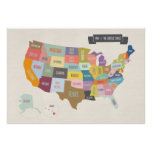 Karte des Plakats USA XL