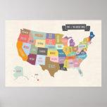 Karte des Plakats USA XL Poster