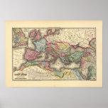 Karte des römischen Reiches Plakate