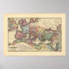 Karte des römischen Reiches Poster