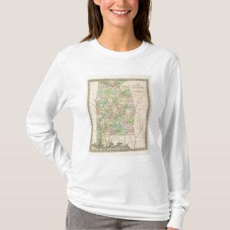 Karte des Staat von Alabama 2 T-Shirt