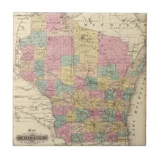 Karte des Staat von Wisconsin Keramikfliese