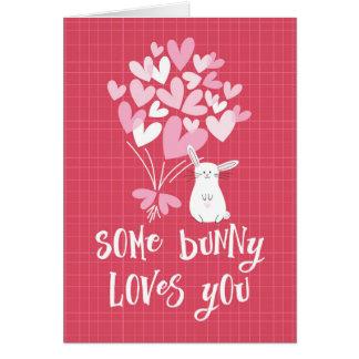 Karte des Valentines Tages- etwas Häschen-Lieben