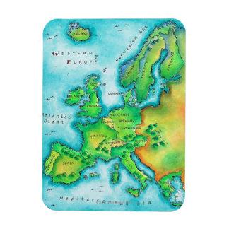 Karte des Westerns Europa Magnet