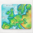 Karte des Westerns Europa Mousepad
