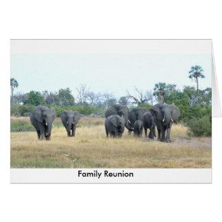 Karte Elefant-Familien-Toms Wurl