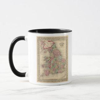 Karte Englands, Wales durch Mitchell Tasse