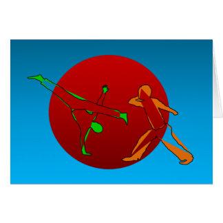 Karte erhielt capoeira Kampfkünsten Spiel
