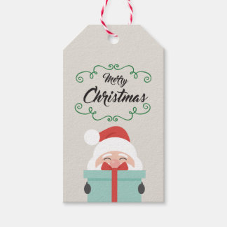 Karte etikettiert für Geschenk M. Christmas Heilig Geschenkanhänger