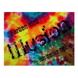 """Karte, """"Farben sind Illusion - ich denke farbig!"""" Postkarte"""