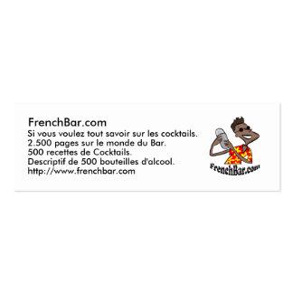 Karte Förderung FrenchBar Jumbo-Visitenkarten