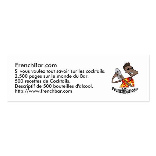 Karte Förderung FrenchBar Visitenkarten Vorlage