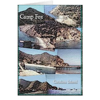 Karte: Foto-Collage von Insel LagerFox Catalina Karte