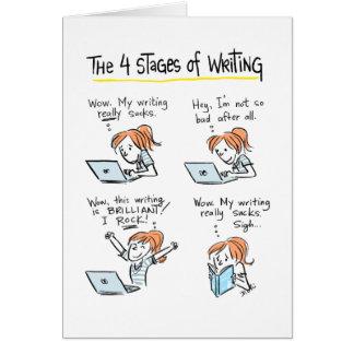 Karte für Verfasser: Vier Bühnen Schreiben