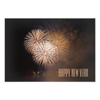 karte: happy new year individuelle ankündigungskarte