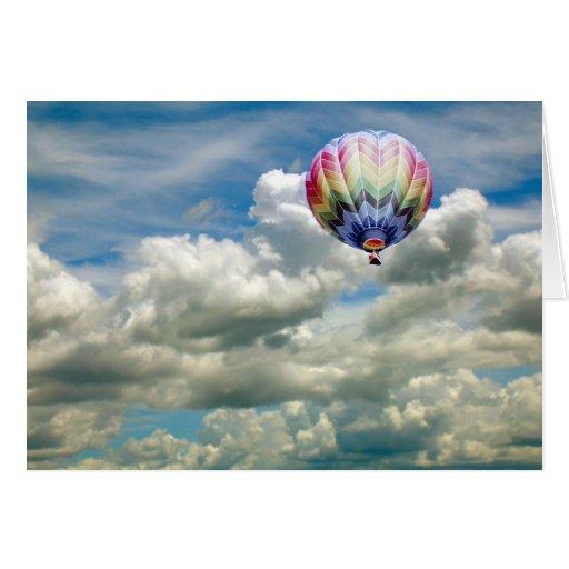Karte - Heißluftballon im Flug