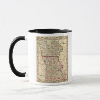 Karte Iowas, Missouri durch Mitchell Tasse