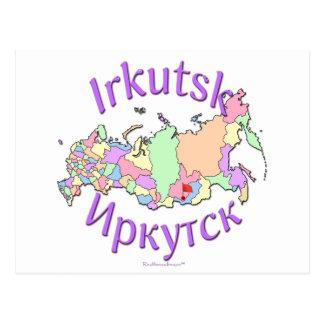 Karte Irkutsks Russland Postkarte
