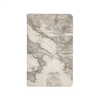 Karte Italiens SItaly durch Stieler Taschennotizbuch