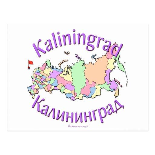 Karte Kaliningrads Russland Postkarte