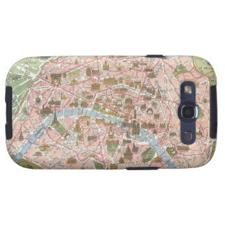 Karte Kastens Paris Samsung des Galaxie-S Hülle Fürs Galaxy S3
