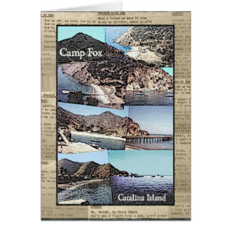 Karte: Lagerfox-Fotos mit Lied-Texten Karte