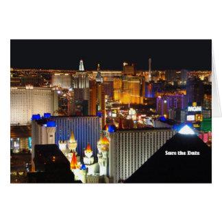 Karte Las Vegas Save the Date, addieren Ihren