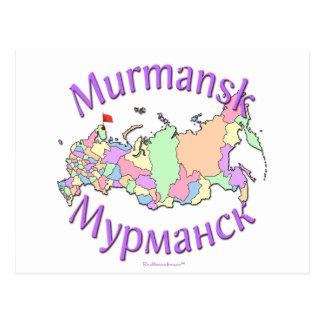 Karte Murmansk Russland Postkarten