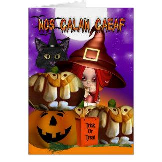 Karte Nr. Galan Gaeaf Waliser Halloween