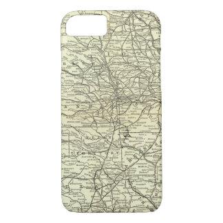 Karte Ohio und Mississippi-Eisenbahn iPhone 8/7 Hülle