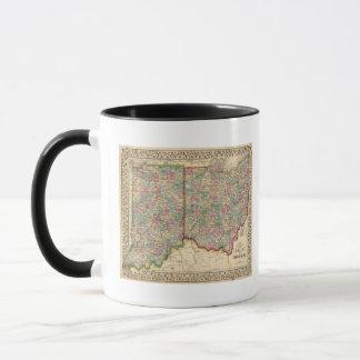 Karte Ohios, Indiana durch Mitchell Tasse