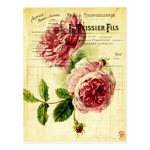 Karte Post- alte Blumen Postkarte