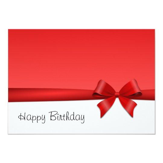 Karte Postkarte Schleife happy birthday 12,7 X 17,8 Cm Einladungskarte