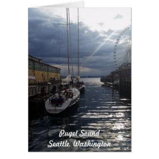 Karte Puget Sound-Ufergegend-Seattles Washington