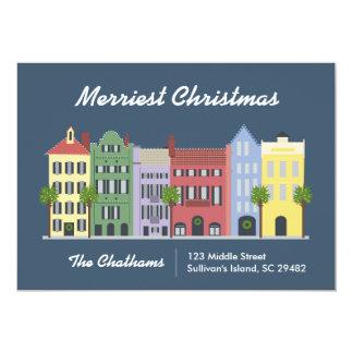 Karte Regenbogen-Reihen-Charlestons South Carolina 12,7 X 17,8 Cm Einladungskarte