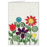Karte - Stemed Blumen - Watercolor