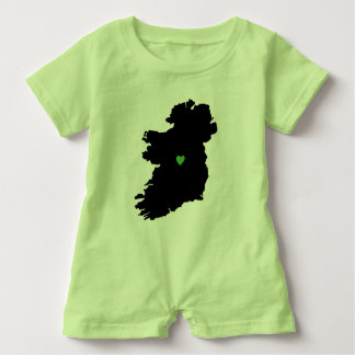 Karte Stolz-Grün-Herzens Irlands des irischen Baby Strampler