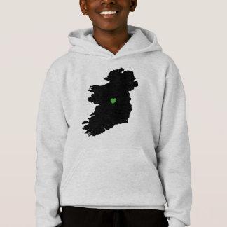 Karte Stolz-Grün-Herzens Irlands des irischen Hoodie