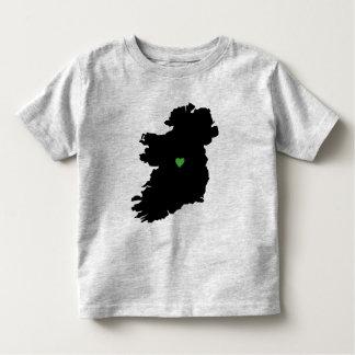 Karte Stolz-Grün-Herzens Irlands des irischen Kleinkind T-shirt