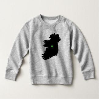 Karte Stolz-Grün-Herzens Irlands des irischen Sweatshirt