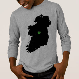 Karte Stolz-Grün-Herzens Irlands des irischen T-Shirt