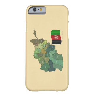 Karte und Flagge von Afghanistan Barely There iPhone 6 Hülle