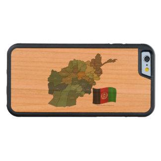 Karte und Flagge von Afghanistan Bumper iPhone 6 Hülle Kirsche